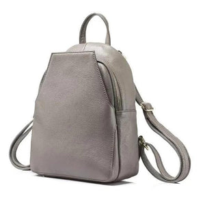 Grey convertible backpack for women