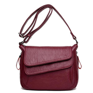 Red crossbody back with front double pocket