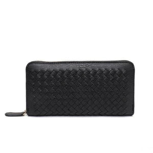 Black leather wallets for women