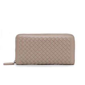 Beige leather wallets for women