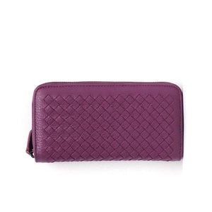 Fuscia leather wallets for women