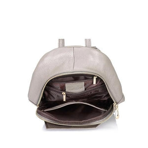 Roomy small leather backpack purse
