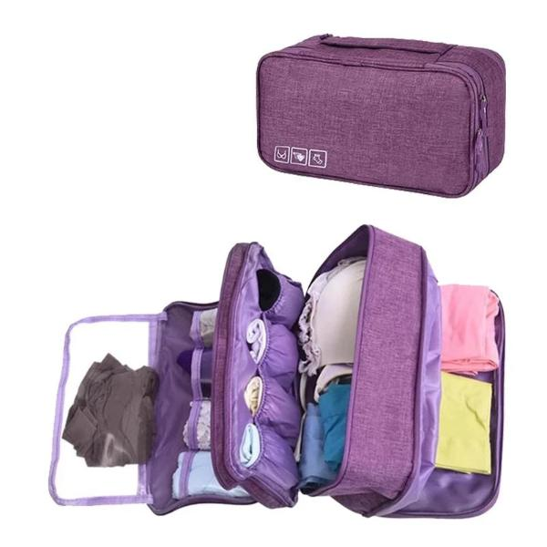 Travel underwear organizer for women