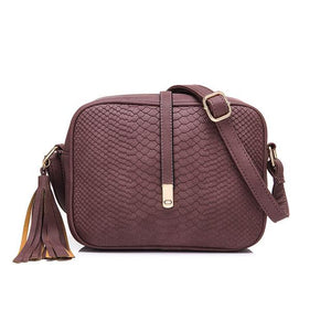 Purple crossbody bags snakeskin