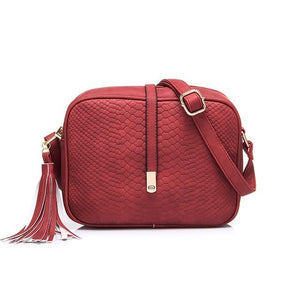Red crossbody bags snakeskin
