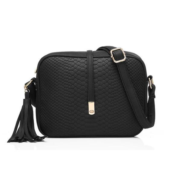 Black crossbody bags snakeskin
