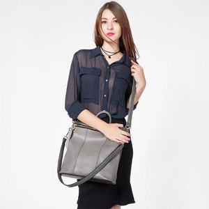 Gray tote backpack or women