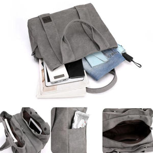 Canvas bag can hold laptop