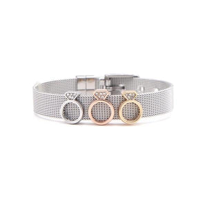 Bracelet with engagement ring charm