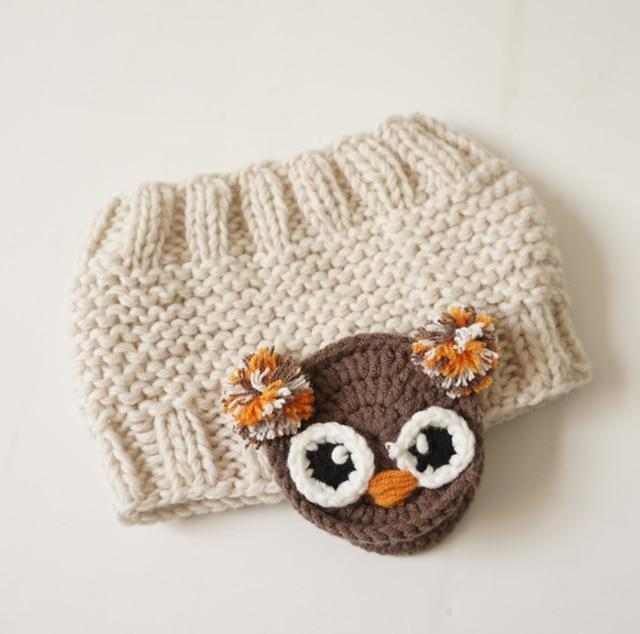 Cute Cartoon Headband for Kids, beige owl