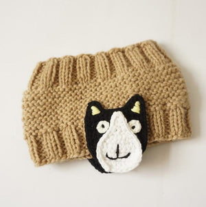 Cute Cartoon Headband for Kids, khaki dog