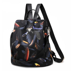 colored leaves backpack purse