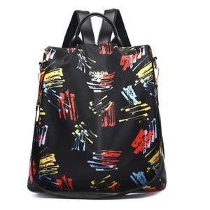 multicolor backpack purse