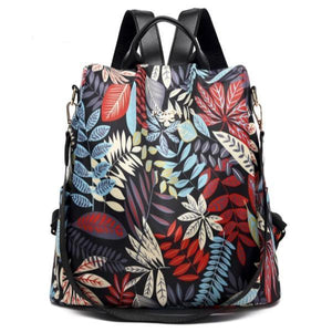 colorful leaves backpack purse