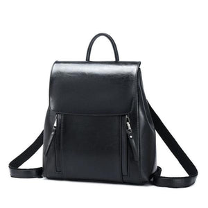 Black Crossbody leather backpack purse