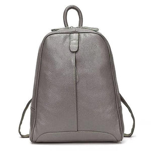 Bronze soft genuine leather backpack