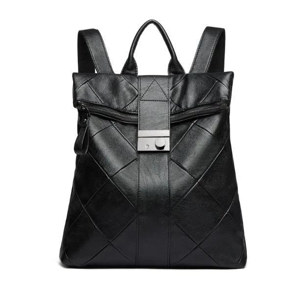 Black anti theft women's backpack