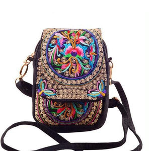 Floral ethnic small bag