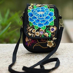 Blue flower cute small bag