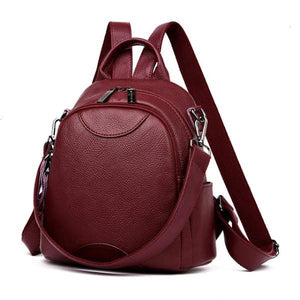 Red convertible small backpack