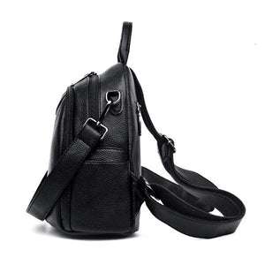 double compartment small black backpack
