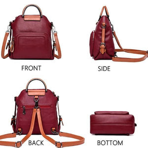 Backpack crossbody leather bag