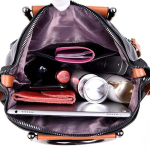 storage compartment backpack purse