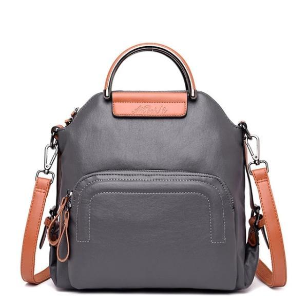 Black leather convertible backpack crossbody