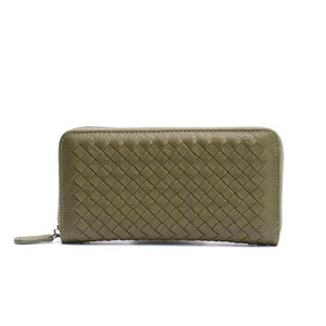 Olive leather wallets for women