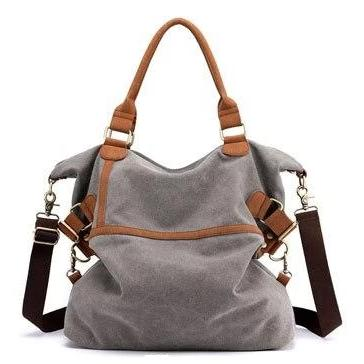 grey canvas laptop messenger large bag women
