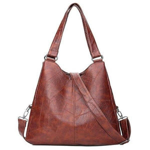 Large tote brown leather bag