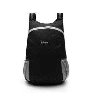Black foldable backpack waterproof