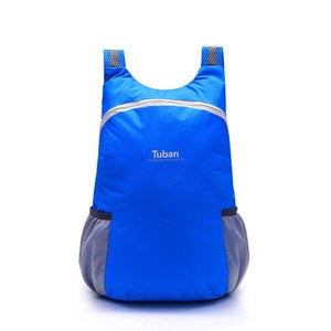 Blue foldable backpack waterproof
