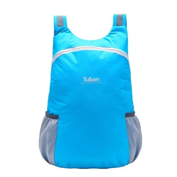Sky blue foldable backpack waterproof