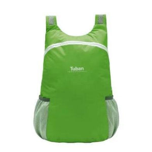 Green foldable backpack waterproof
