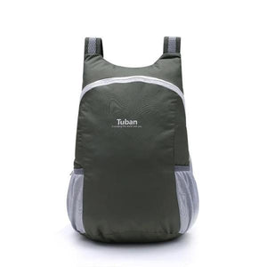 Gray foldable backpack waterproof