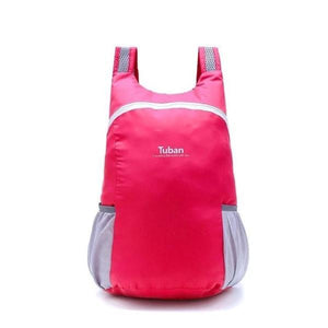 Rose Red foldable backpack waterproof
