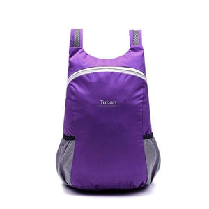 Purple foldable backpack waterproof