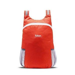 Orange foldable backpack waterproof