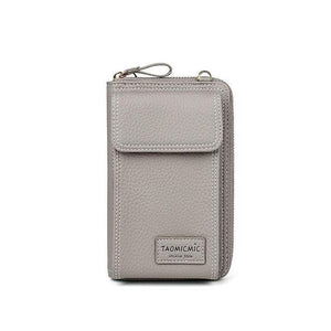 Gray crossbody phone purse