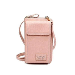 Pink crossbody phone purse