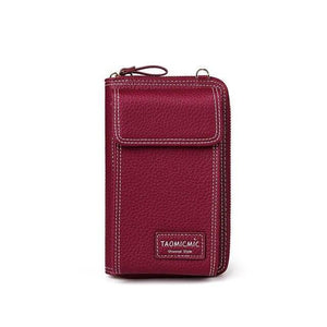 Red wine crossbody phone purse