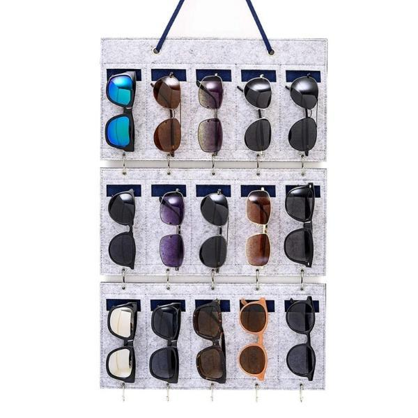 sunglasses wall organizer