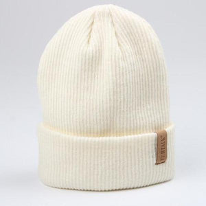 fluffy beanie hat white