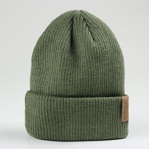 fluffy beanie hat green