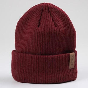 fluffy beanie hat Red