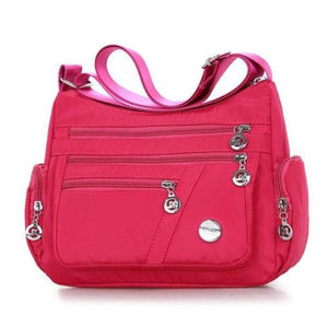 Hot pink crossbody lightweight nylon bag