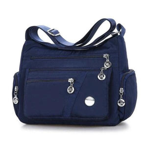 Blue crossbody lightweight nylon bag