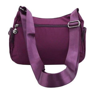 rear pocket crossbody nylon bag