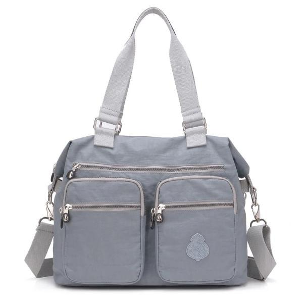 Grey Messenger tote bag crossbody nylon for women